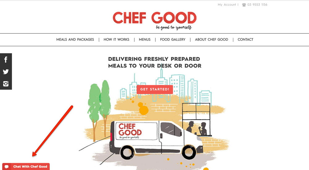 live chat nutritionist chef